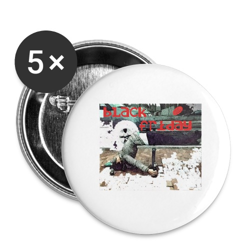 black friday - Buttons large 2.2'' (5-pack)