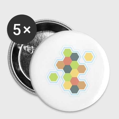 Settlers of Catan - Buttons large 2.2'' (5-pack)