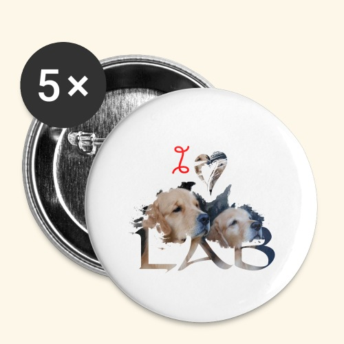 I love Lab - Buttons large 2.2'' (5-pack)