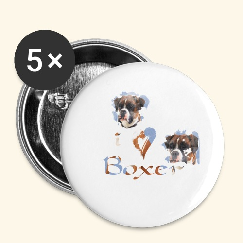 Boxer - Buttons large 2.2'' (5-pack)