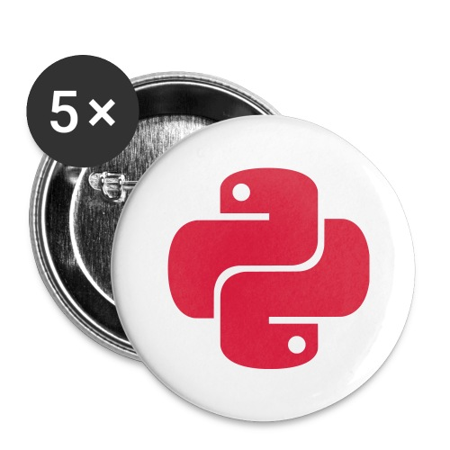 Python Logo - Buttons large 2.2'' (5-pack)