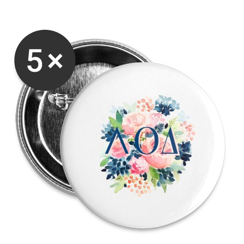 Watercolor Pin - Buttons large 2.2'' (5-pack)