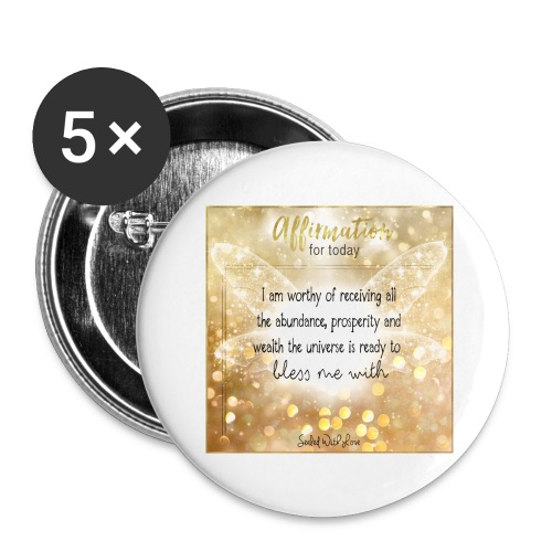 Abundance - Buttons large 2.2'' (5-pack)