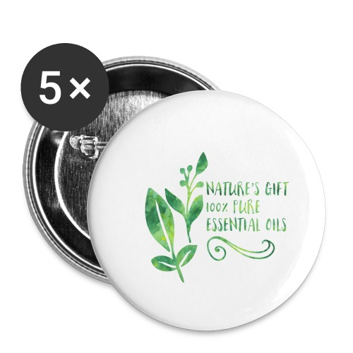 nature's gift essential oils - Buttons large 2.2'' (5-pack)