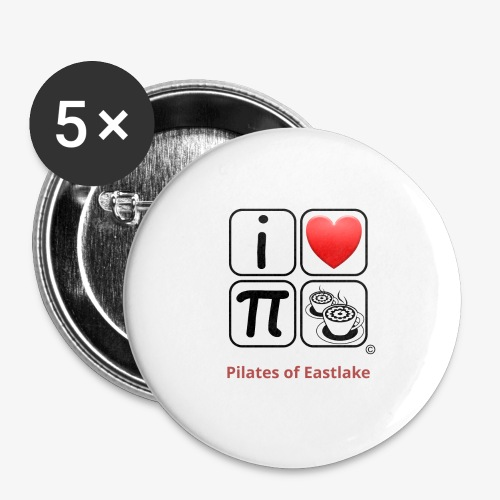 I love Pilates black and white - Buttons large 2.2'' (5-pack)