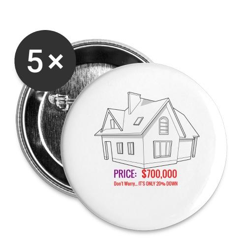 Fannie & Freddie Joke - Buttons large 2.2'' (5-pack)