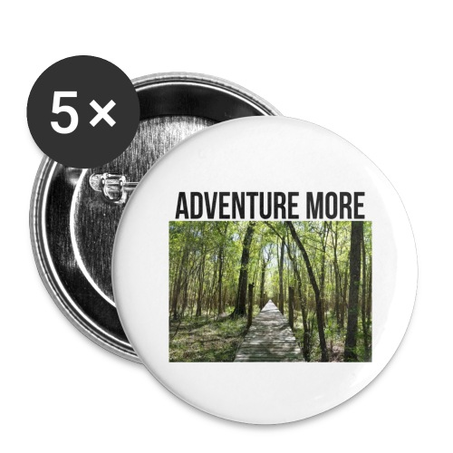 adventure more - Buttons large 2.2'' (5-pack)