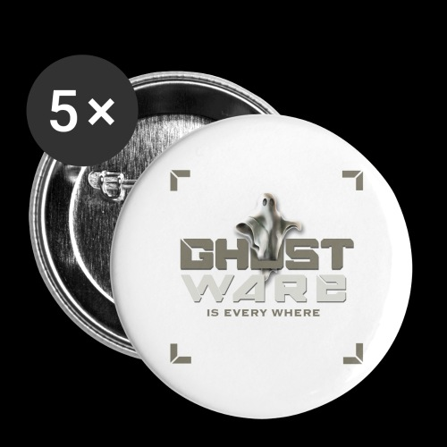 Ghostware Square Logo - Buttons large 2.2'' (5-pack)
