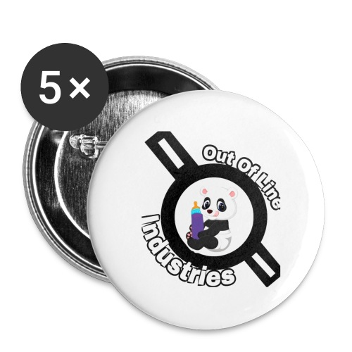 O.U.I#1 - Buttons large 2.2'' (5-pack)