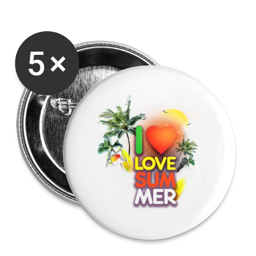 I love summer - Buttons large 2.2'' (5-pack)