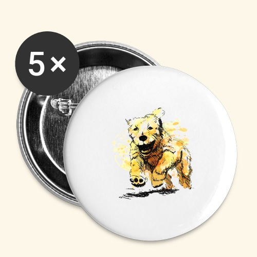 oil dog - Buttons large 2.2'' (5-pack)