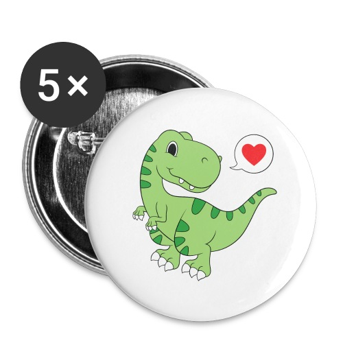 Dinosaur Love - Buttons large 2.2'' (5-pack)