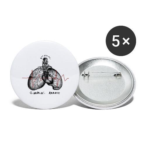 IZÄR CARDIAC ARREST - Buttons large 2.2'' (5-pack)