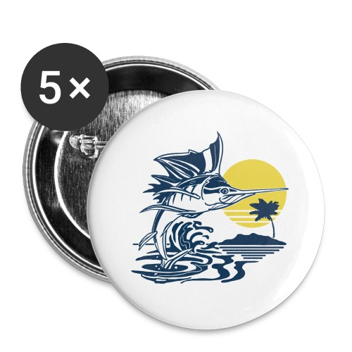 Sailfish - Buttons large 2.2'' (5-pack)