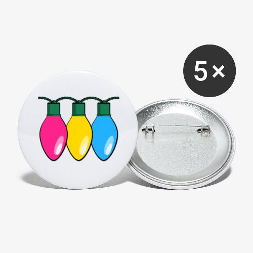 Pansexual Pride Christmas Lights - Buttons large 2.2'' (5-pack)