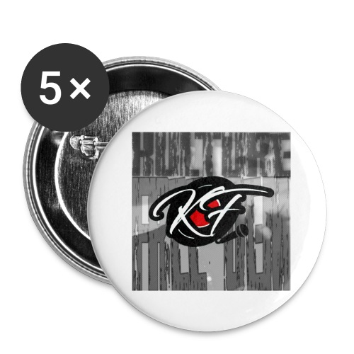 KulturefreeDem Logo Merch Design - Buttons large 2.2'' (5-pack)