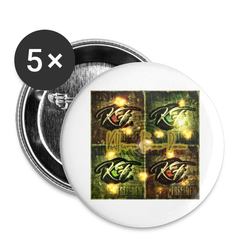 KFree Signature cosmic art - Buttons large 2.2'' (5-pack)