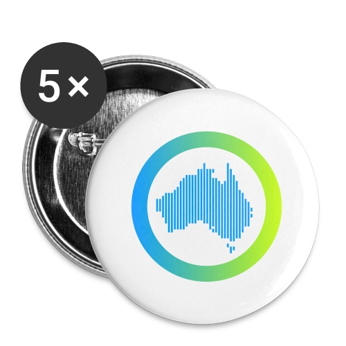 Gradient Symbol Only - Buttons large 2.2'' (5-pack)