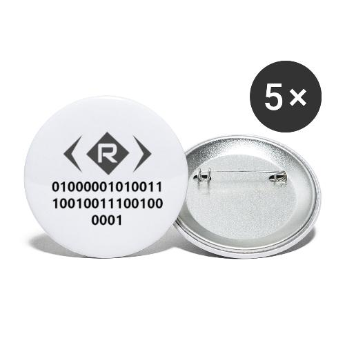 ANNA Binary - Buttons large 2.2'' (5-pack)