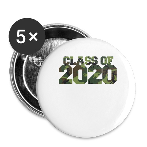Class of 2020 Camo grad logo - Buttons large 2.2'' (5-pack)