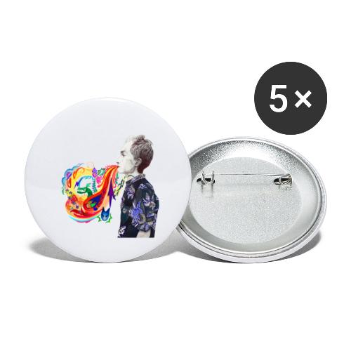 Breathe Cover Art - Buttons large 2.2'' (5-pack)