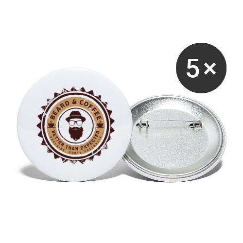 Beard and Coffee Merch - Buttons large 2.2'' (5-pack)