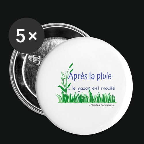 Gazon mouillé 2.0 - Buttons large 2.2'' (5-pack)