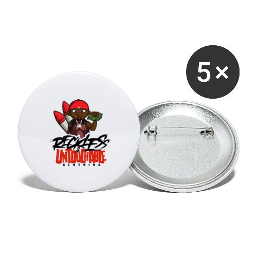 Reckless and Untouchable_1 - Buttons large 2.2'' (5-pack)
