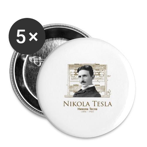 Nikola Tesla - Buttons large 2.2'' (5-pack)
