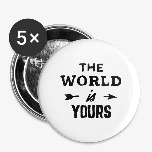 the world - Buttons large 2.2'' (5-pack)