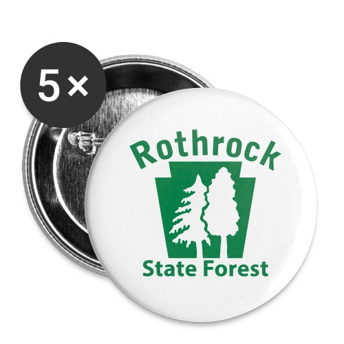 Rothrock State Forest Keystone (w/trees) - Buttons large 2.2'' (5-pack)