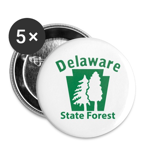 Delaware State Forest Keystone (w/trees) - Buttons large 2.2'' (5-pack)