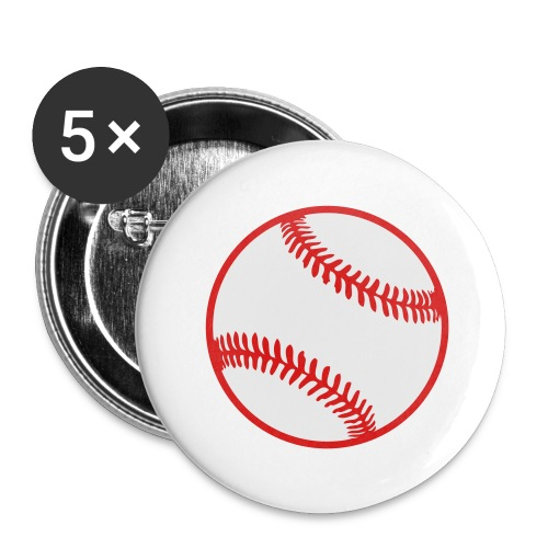 Baseball 2 color Team shirt - Buttons large 2.2'' (5-pack)