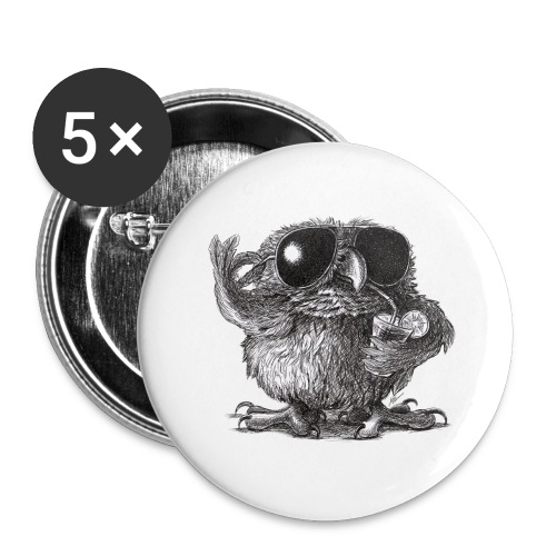 Cool Owl - Buttons large 2.2'' (5-pack)