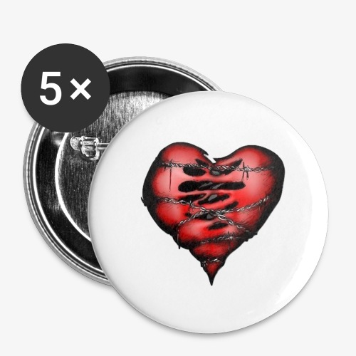 Chains Heart Ceramic Mug - Buttons large 2.2'' (5-pack)
