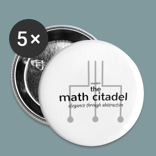 Abstract Math Citadel - Buttons large 2.2'' (5-pack)