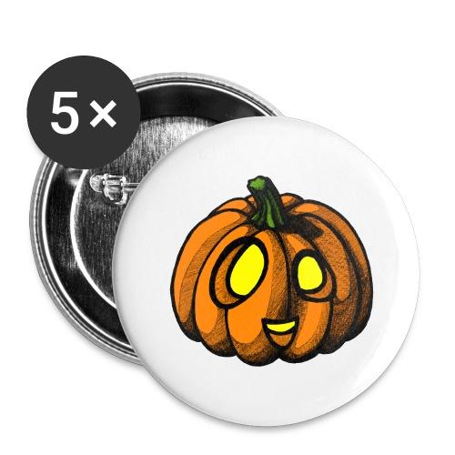 Pumpkin Halloween scribblesirii - Buttons large 2.2'' (5-pack)
