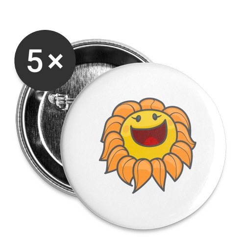 Happy sunflower - Buttons large 2.2'' (5-pack)