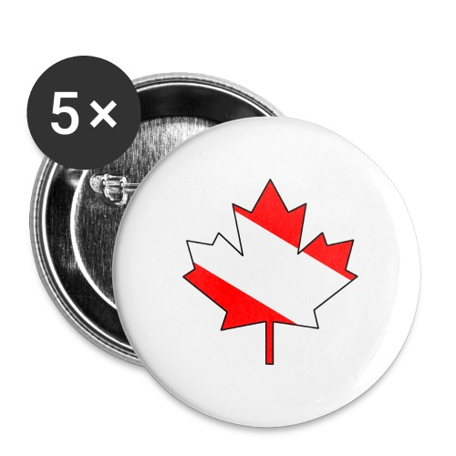 Maple Leaf with white infill and outline - Buttons large 2.2'' (5-pack)