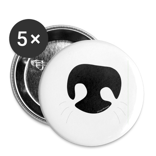Dog Nose - Buttons large 2.2'' (5-pack)