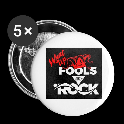 Fool design - Buttons large 2.2'' (5-pack)