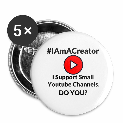 IAmACreator - Buttons large 2.2'' (5-pack)