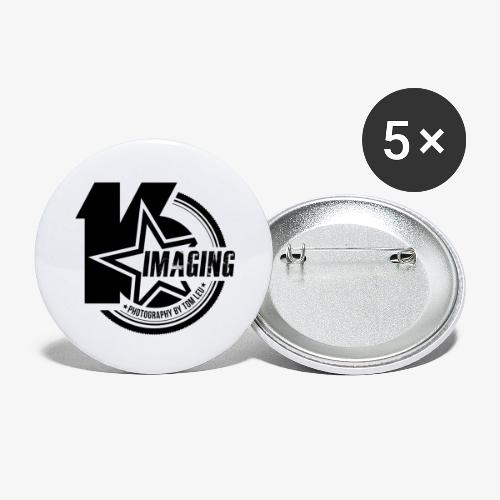 16IMAGING Badge Black - Buttons large 2.2'' (5-pack)