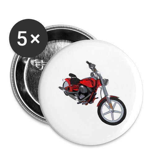 Motorcycle red - Buttons large 2.2'' (5-pack)