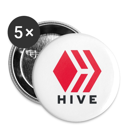 Hive Text - Buttons large 2.2'' (5-pack)