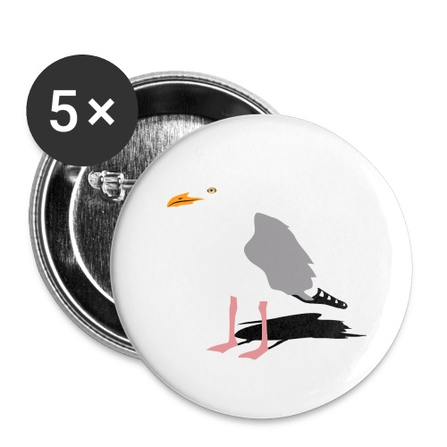 sea gull seagull harbour bird beach sailing - Buttons large 2.2'' (5-pack)
