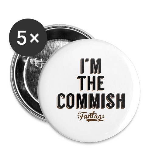 I'm the Commish: Coffee Mug - Buttons large 2.2'' (5-pack)