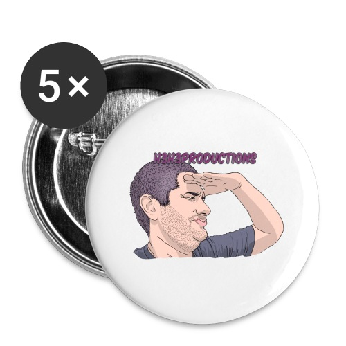 wow - Buttons large 2.2'' (5-pack)
