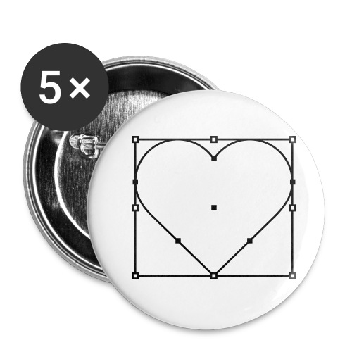 vector love2 - Buttons large 2.2'' (5-pack)