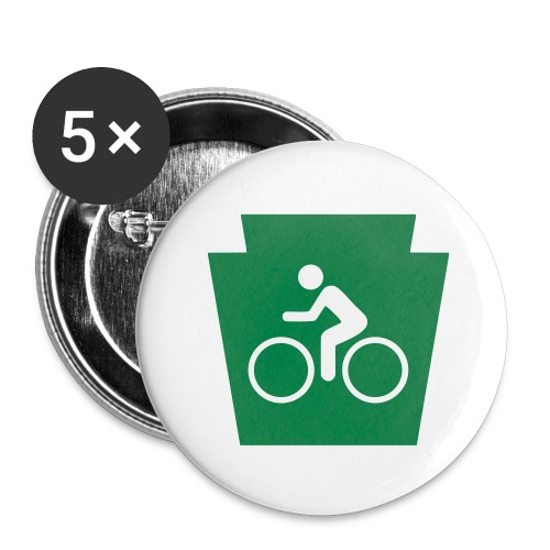 PA Keystone w/Bike (bicycle) - Buttons large 2.2'' (5-pack)